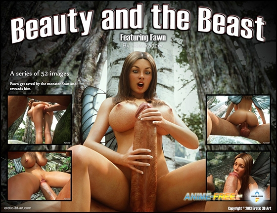 Картинка Beauty and The Beast / Featuring Fawn [Uncen] [3DCG] [JPG] Hentai ART