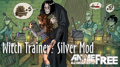 Картинка Witch Trainer: Silver Mod [2018] [Uncen] [Animation, ADV] [ENG,RUS] H-Game