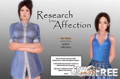 Картинка Research Into Affection [2018] [Uncen] [ADV, 3DCG] [Android Compatible] [ENG] H-Game