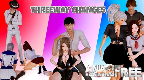 Картинка Threeway Changes [2018] [Uncen] [ADV, 3DCG, Animation] [ENG] H-Game