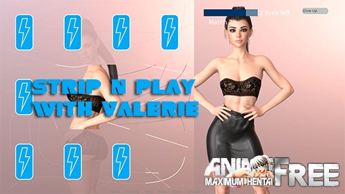 Картинка Strip n Play with Valerie [2020] [Uncen] [Puzzle, 3DCG, Animation] [ENG] H-Game