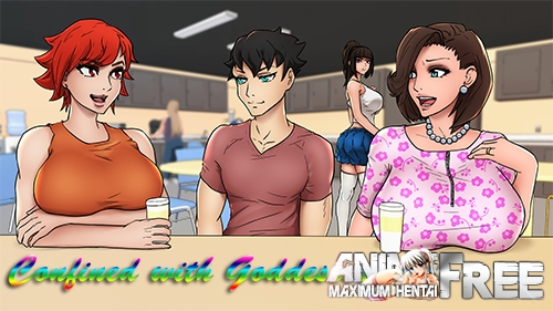 Картинка Confined with Goddesses [2020] [Uncen] [ADV, Animation] [Android Compatible] [ENG] H-Game