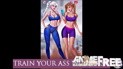 Картинка Train Your Ass With Elsa [2020] [Uncen] [SLG, Animation] [ENG,RUS] H-Game