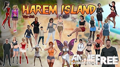 Картинка Harem Island [2018] [Uncen] [ADV, 3DCG, Animation] [Android Compatible] [ENG] H-Game