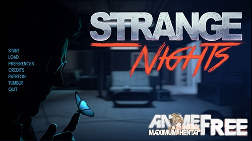 Картинка Strange Nights [2018] [Uncen] [ADV] [Android Compatible] [ENG,RUS] H-Game