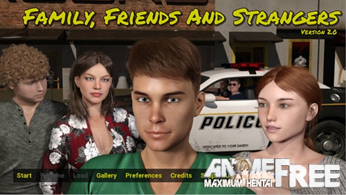 Картинка Family, Friends and Strangers [2019] [Uncen] [ADV, 3DCG] [Android Compatible] [ENG] H-Game