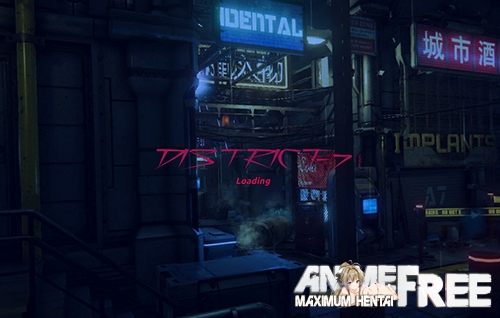 Картинка District-7: Cyberpunk stories [2020] [Uncen] [ADV, 3D] [RUS,ENG] H-Game