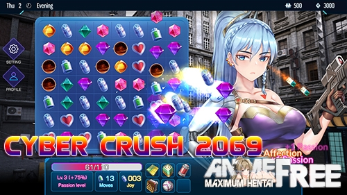 Картинка Cyber Crush 2069 [2020] [Uncen] [ADV, Animation] [ENG] H-Game