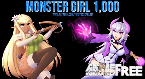 Картинка Monster Girl 1,000 [2021] [Uncen] [ADV, RPG] [ENG] H-Game
